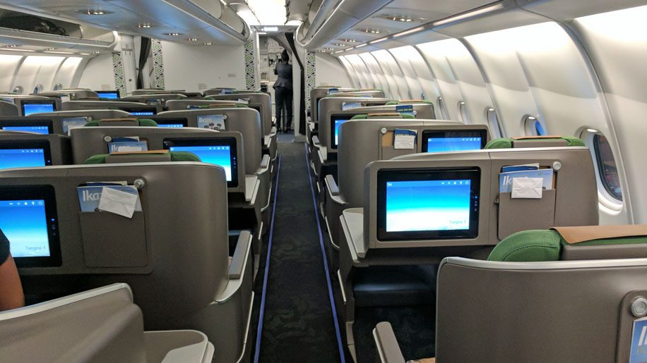 Rwandair Business-class-cabin