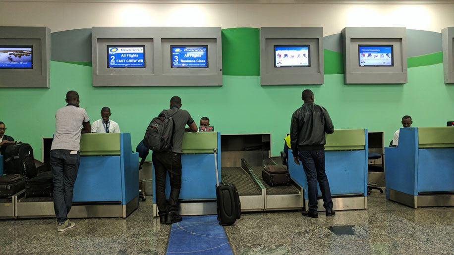Kigali airport Check-in