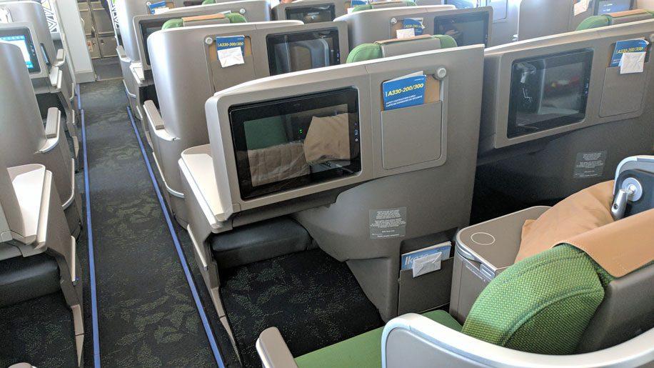 Rwandair A332 business seat
