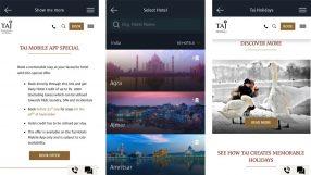 Taj mobile app
