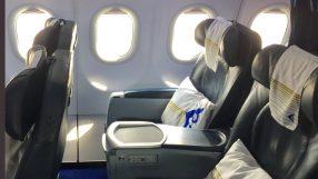 Air Astana A320 business seat