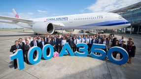 Airbus 100th A350 delivery