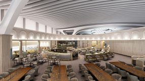 Plaza Premium lounge at Rome Fiumicino