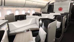 Air Canada B787 Dreamliner business class
