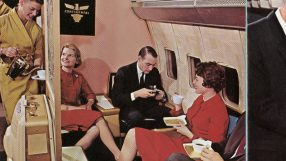 Boeing 707 Onboard Offerings (TV & Ticketing) circa June 1959: Credit - Boeing