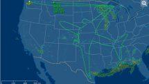 Boeing Dreamliner flight path