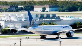 United aircraft at Houston's George Bush Intercontinental Airport