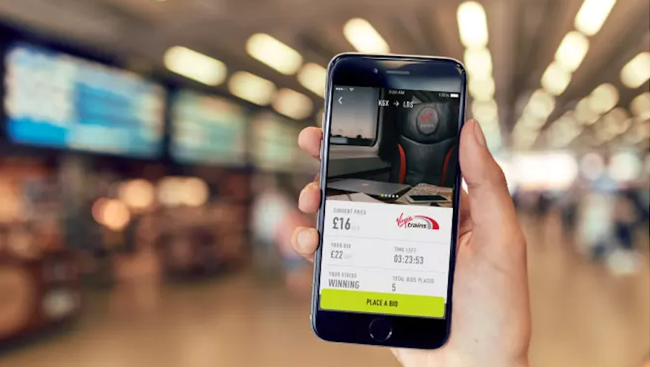 Virgin Trains launches first-class seat auction app